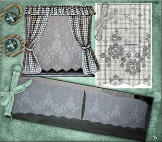 hæklede gardiner Scrapbogsider: Hæklet gardiner hæklede gardiner