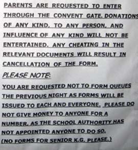 convent notice