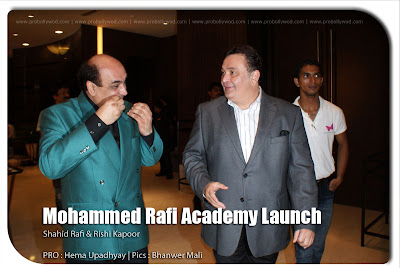 Rishi Kapoor at Muhammad Rafi Academy launch