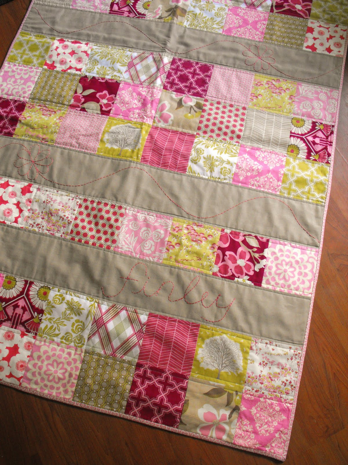 Fussy Cut Finally A Baby Girl Quilt