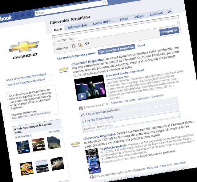 Chevrolet promociona el Cruze vía Facebook 1