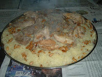 60365b03d The national dish of Jordan is Mansaf: lamb seasoned with aromatic herbs,  sometimes lightly spiced, cooked in yoghurt, and served with huge  quantities of ...