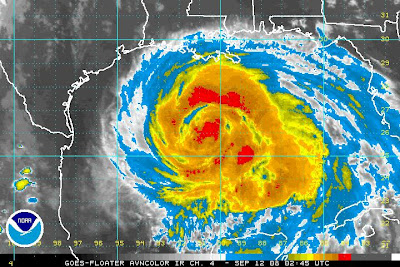 AVN Satellite image of Hurricane Ike from NOAA
