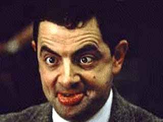Mr Bean puckering up