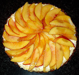 ... Guide to Cuisine: Nectarine and Mascarpone Tart in a Gingersnap Crust