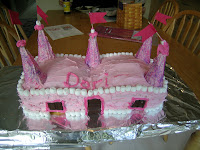Easy Birthday Cakes For Girls Flower Cupcakes And Princess Castle Cake