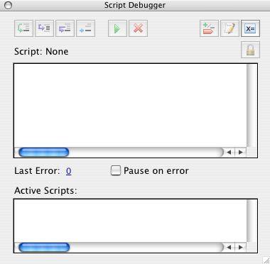 The Active Script Area In Script Debugger — thePRACTICALba