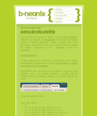 Neonix Blogger Template