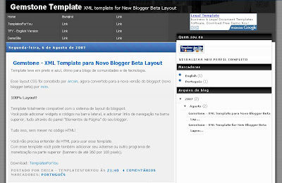 Gemstone Blogger Template