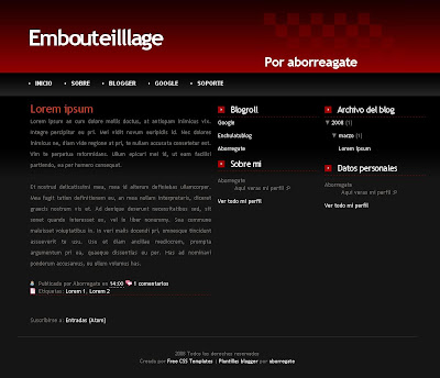 Embouteilllage Blogger Template