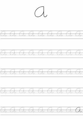 Caligrafia De Las Vocales A E I O U Hojas De Caligrafia Para