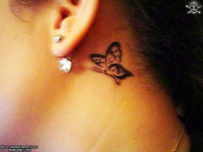 e3dbed962 Rihanna Ear Tattoo Celebrity Behind the ear tattoos   Mexican Tattoo Design