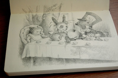 Randm Collective Alice In Wonderland Drawing