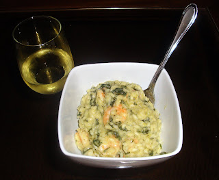 Shrimp Spinach Goat Cheese Risotto
