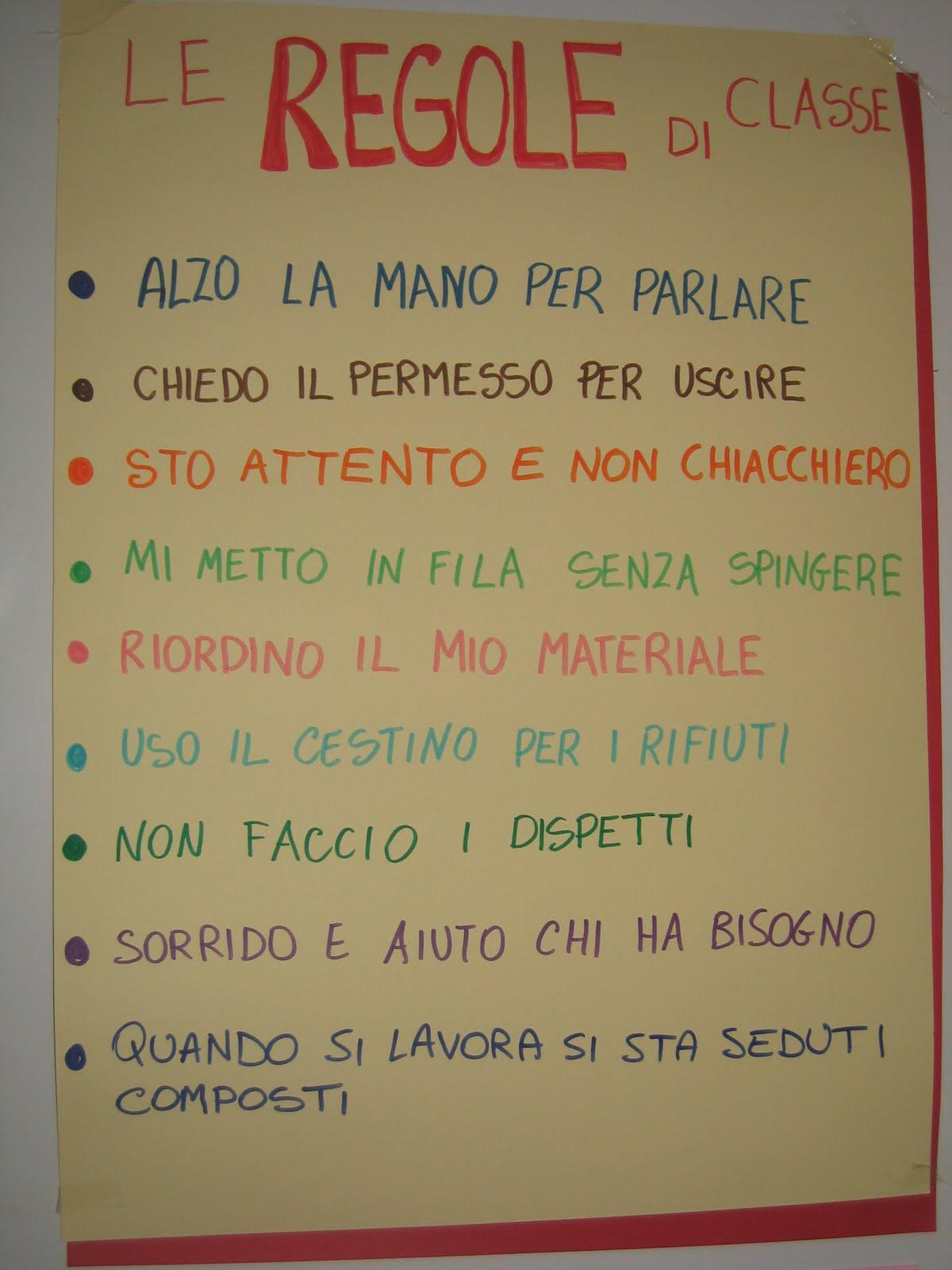 Super Le Regole Della Classe Scuola Primaria ER38 » Regardsdefemmes OF78