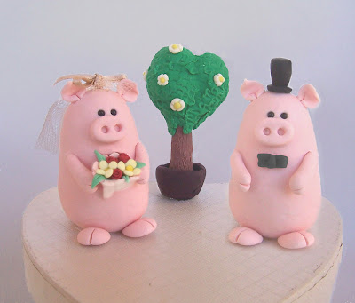 Cutest Wedding Cake Toppers.Cute Funny Original Pigs Wedding Cake Toppers Statuine Per Torte