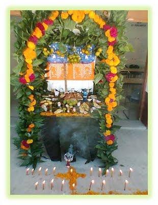 Altar totonaco de Dia de Muertos  Coyutla Veracruz
