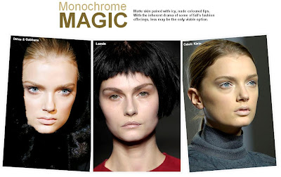 2007 Fall Fashion Trends on Fall Winter 2007 2008 Beauty Trend Report  Monochrome Magic