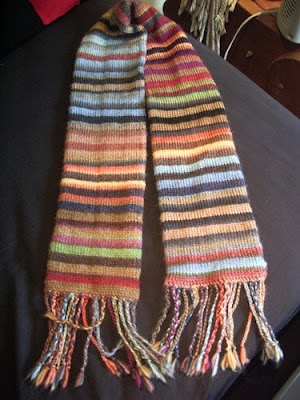 47s Knitting And Crochet Patterns Sws Striped Scarf
