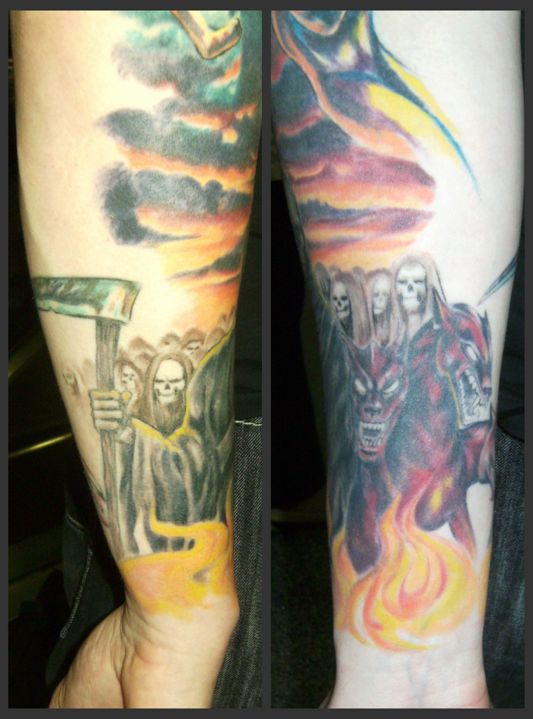 Tattoosday A Tattoo Blog Chris Interprets Heaven And Hell