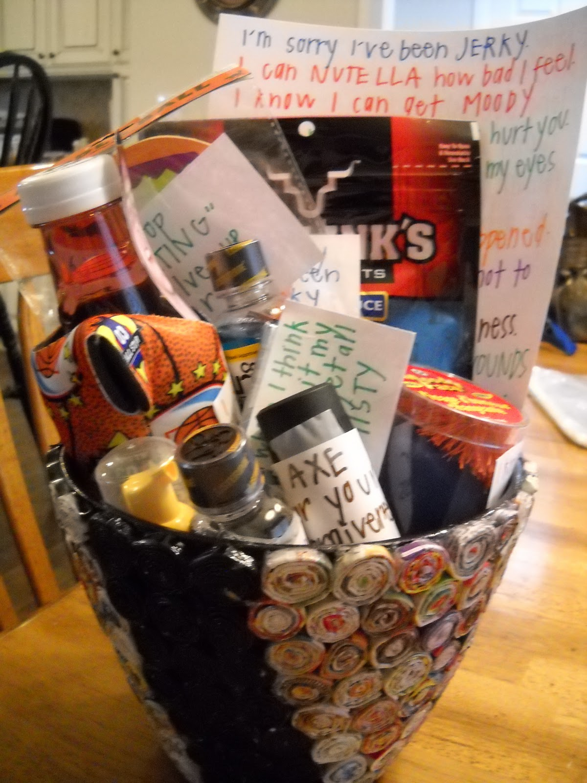 snippets n stuff apology basket