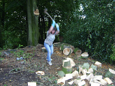 Swing an axe Flying Chick Style (you think it's easy? think again!)