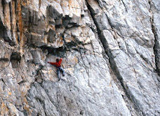 Panther climbing at Gogarth