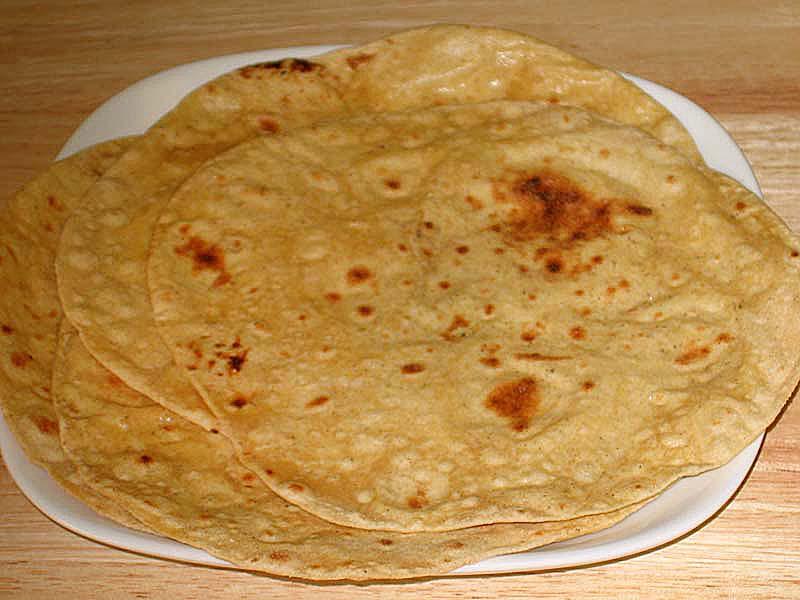 Vegetarian Cooking Chapati Roti Phulka