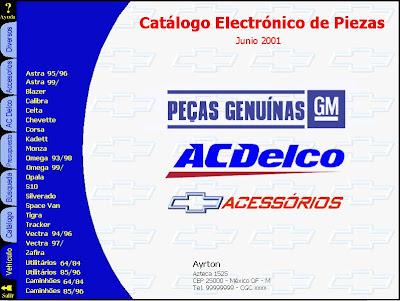 Imagenes de manuales de despiece de autos chevrolet fiat for Piezas de fontaneria catalogo