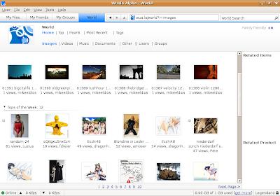 Seção World do Wuala - arquivos públicos