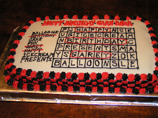 I Made This Birthday Cake For A Friend Of The Family His Parents Said That He Loves Word Searches So Came Up With