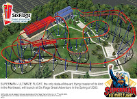 Superman: Ultimate Flight Ride Layout