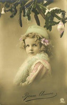 Carte postale ancienne Bonne Année enfant