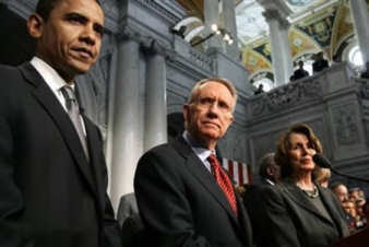 Barack Obama, Harry Reid, Nancy Pelosi