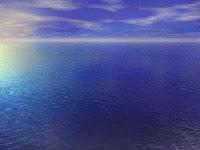 Foto de um oceano azul turqueza