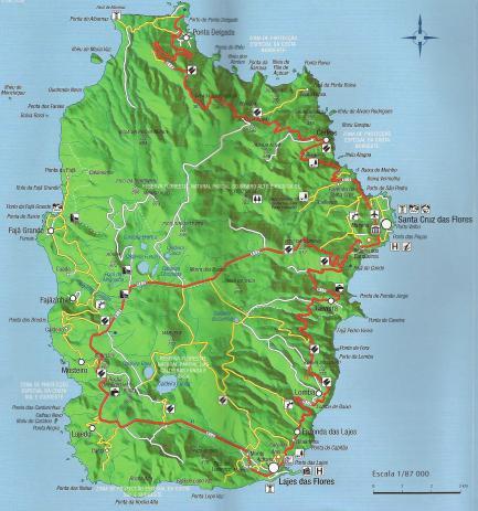 mapa ilha flores Lume & Ar: Uma iIlha florida mapa ilha flores