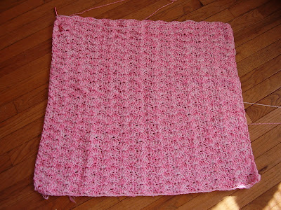 Knit Shell Stitch Baby Blanket : Knitting Dragonflies: Shell Stitch Baby Blanket Pattern