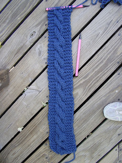 Knitting Dragonflies My Chunky Cable Simple Scarf Pattern