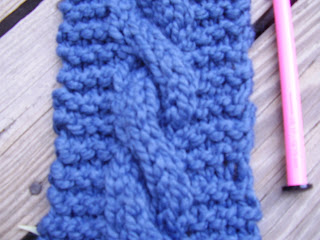 My Chunky Cable Simple Scarf Pattern