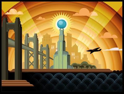 Art Deco City Painting