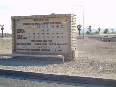 Unternehmen El PasoTexas: Luke AFB, Arizona