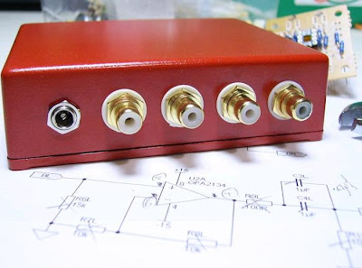DIY OPA2134AP Linestage Enclosure Back