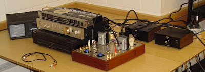 12B4 Tube Preamplifier and Little Wally Mono blocks