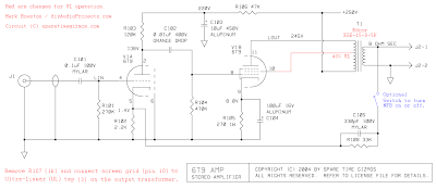 6T9 Ultra-Linear Tube Amp Schematic