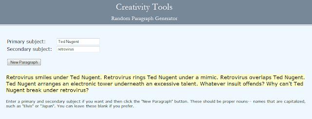 CAVEMEN GO: Random Paragraph Generator