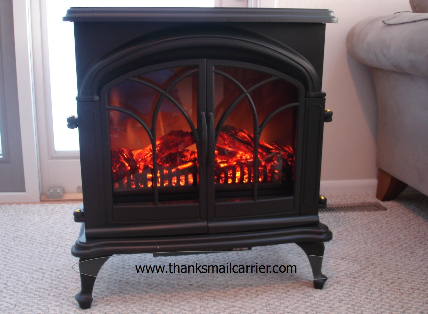 Mail Carrier | Plow & Hearth Electric Stove {Review}