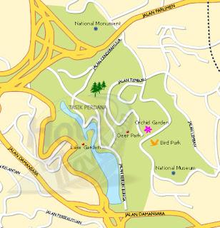 Lake Gardens Map Kuala Lumpur