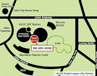 Suria KLCC Shopping Mall Map Kuala Lumpur