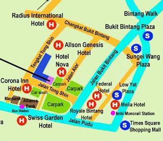 Sungei Wang Shopping Mall Map Kuala Lumpur