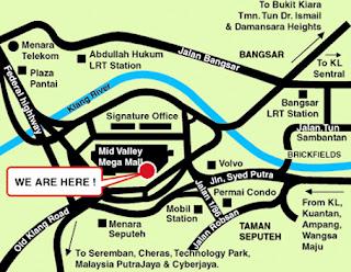 Mid Valley Shopping Mall Map Kuala Lumpur